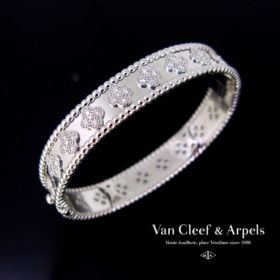 Perlée Clovers Diamonds Bangle by VCA
