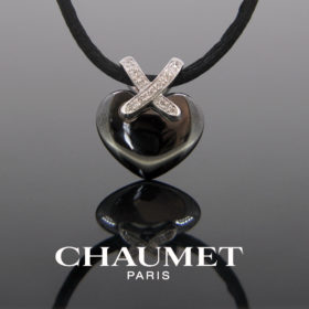 Ceramic Heart Diamonds Pendant by Chaumet