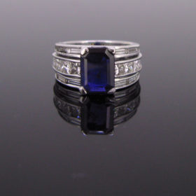 Color Change Ceylon Sapphire Diamonds Ring
