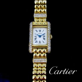 Cartier Tank Mini Lady's Diamonds Wristwatch