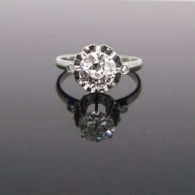 French Art Deco 1.25ct Solitaire Diamond Ring