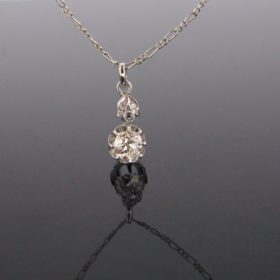Art Deco Diamonds Pendant on Chain