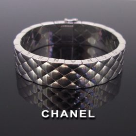 Chanel Matelasse Quilted Bangle Bracelet