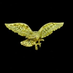 Antique Art nouveau Eagle Brooch Pendant