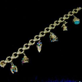 Vintage Charms Yellow Gold Bracelet