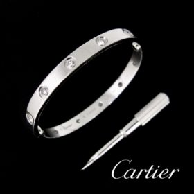 Cartier Love 10 Diamonds Bangle Bracelet