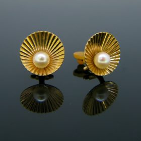 Vintage Cultured Pearl Clip Earrings