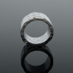 Chanel Matelasse White Gold Band Ring