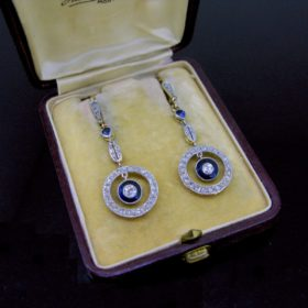 Belle Epoque Sapphires and Diamonds Earrings