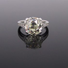 4.66ct Cushion Cut Diamond Solitaire Ring