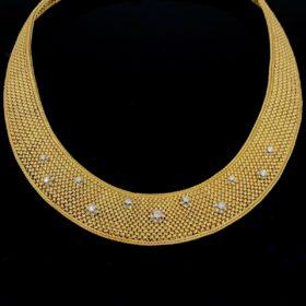 Retro Diamonds Woven Collar Necklace