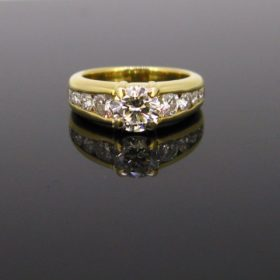 Vintage Solitaire 1.10ct Diamond Ring
