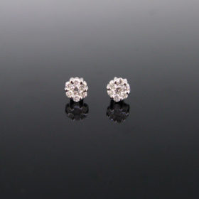 Brilliant cut Diamonds Flowery Studs
