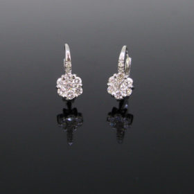 Diamonds Flowery Dormeuses Earrings
