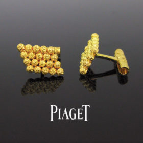 Piaget Gold Textured Cufflinks