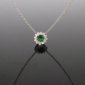 Emerald Diamonds Pendant Necklace