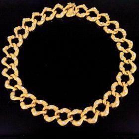 Diamonds Fine Gold Collar Necklace