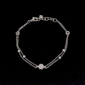 Contemporary Diamonds Chain Bracelet