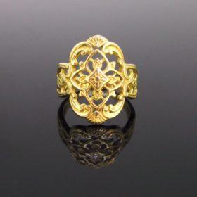 Antique Art Nouveau Openwork Ring