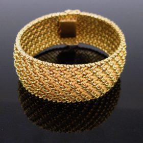 Woven Mesh Large Cuff Bracelet