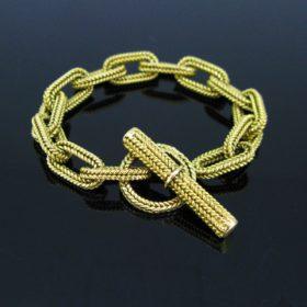 Vintage Textured Woven Link Bracelet