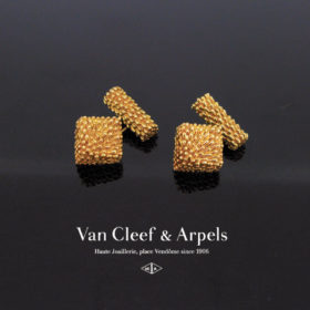 French Gold Cufflinks by Van Cleef & Arpels