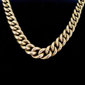 Chunky Curb Links Yellow Gold Necklace
