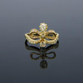 Antique Art Nouveau Diamond Bow Ring