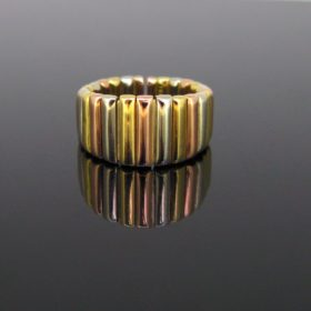Three Gold Links Band Ring by Weingrill