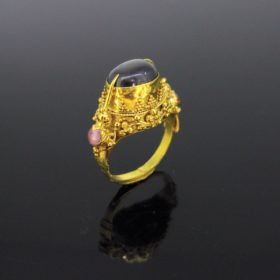 Antique Etruscan Revival Star Sapphire Ring