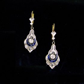 Belle Epoque Sapphires Diamonds Earrings