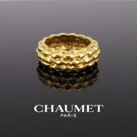 Vintage Chaumet Textured Yellow Gold Ring