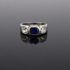 Art Deco Sapphire and Diamonds Ring