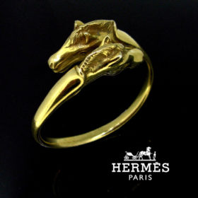Hermès Horse Sterling Bangle Bracelet