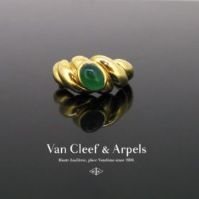 Van Cleef & Arpels Cabochon Chrysoprase Ring,