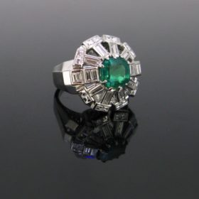 2.82ct Colombian Emerald Diamonds Ring