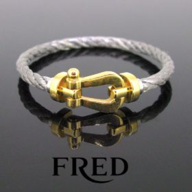Fred Paris Force 10 Gold Steel Bracelet