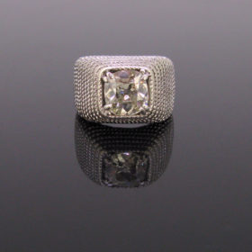 Retro 1.60ct Cushion Cut Diamond Ring