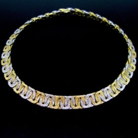 Georges Lenfant Two Gold Collar Necklace