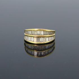 Baguette Diamonds Double Band Ring