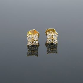 1ct Brilliant Cut Diamonds Square Studs