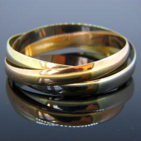 Three-Color Gold Rolling Bracelet, 18kt Gold