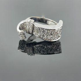 Art Deco Diamonds Ribbon Ring