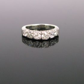 Vintage Diamonds Half Eternity Ring