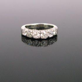 Vintage Diamonds Half Eternity Ring