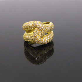 Vintage 1.50ct Knot Pave Diamonds Ring