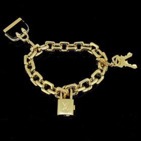 Padlock Key Bag Charm Bracelet by LVuitton