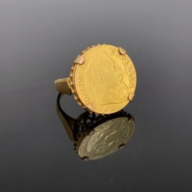 Retro Napoleon III Coin Sovereign Ring