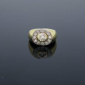 Vintage Diamonds Yellow Gold Ring