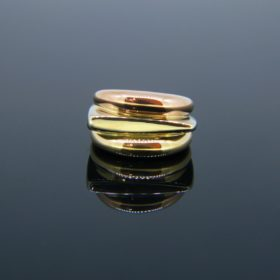 Vintage Three Gold Success Ring by Fred